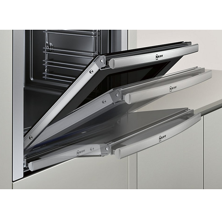 NEFF B44M42N5GB Slide and Hide Built-In Single Oven, Stainless Steel ...